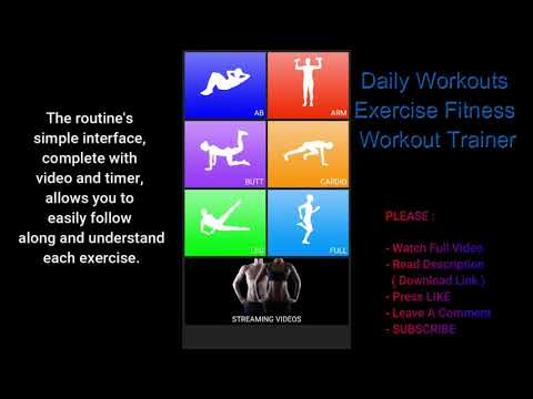 🔴🔔 daily WORKOUTS Exercise FITNESS Workout Trainer ( android app )