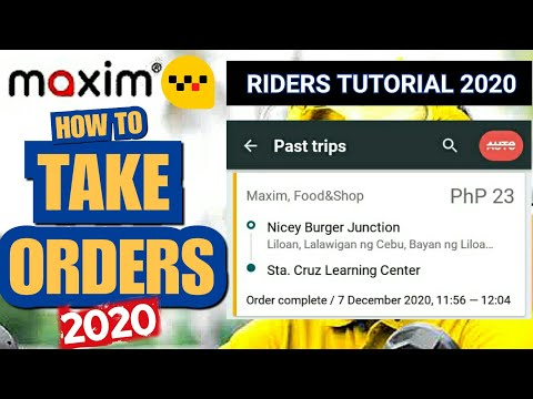 Maxim Rider Tutorial | How to Take Orders (STEP BY STEP GUIDE 2020)