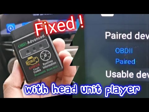 Torque Pro App Bluetooth OBD2 pair to Android head unit player