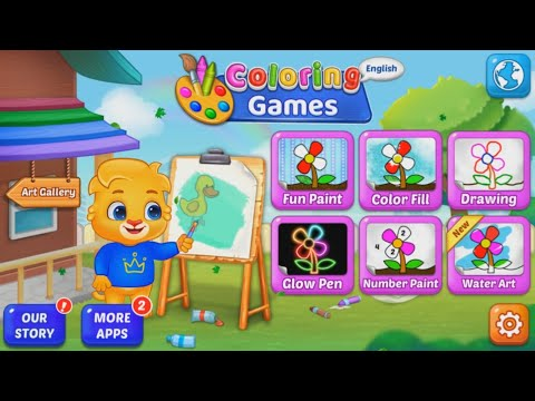 COLORING GAMES COLORING BOOK PAINTING GLOW DRAW VIDEO 2