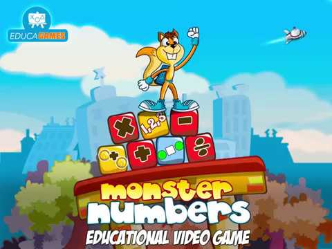New Monster Numbers Preview: Math Video Game for kids