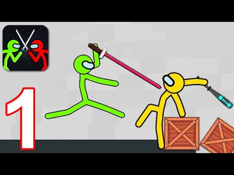 SUPREME STICKMAN FIGHTING - Walkthrough Gameplay Part 1 - INTRO (iOS Android)