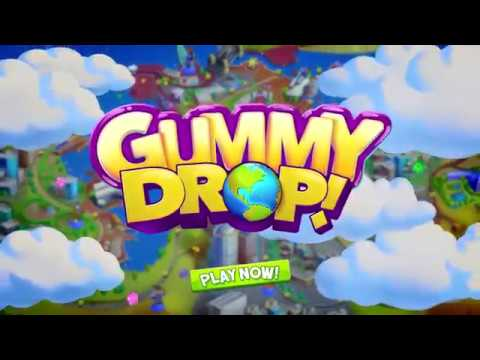 video review of Gummy Drop! Match to restore and build cities