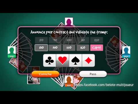 Belote Multiplayer: Learn to play Coinche