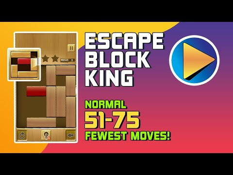 Escape Block King Normal Levels 51 to 75 Walkthrough [100% Perfect!]