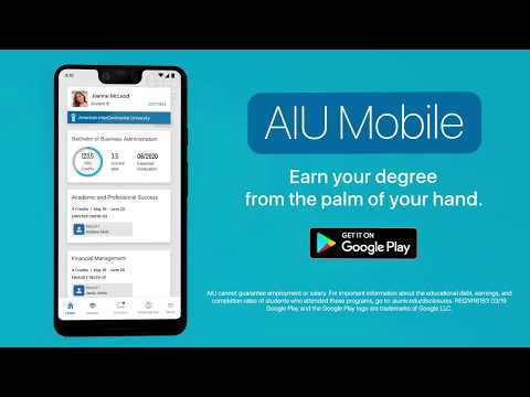 video review of AIU Student Mobile