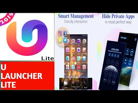 U launcher lite hide apps features, how to use u launcher lite