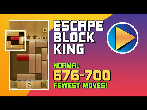 Escape Block King Normal Levels 676 to 700 Walkthrough [100% Perfect!]