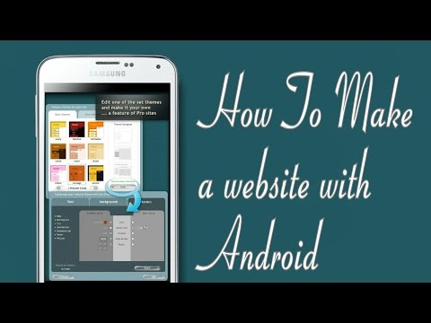 How to Make a Website With Android - Website Builder for Android 2016 HD