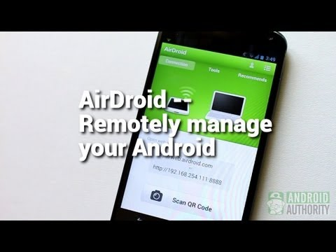 AirDroid: Remotely manage your Android from a Web browser