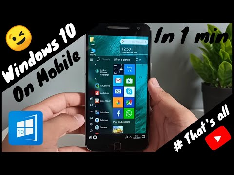 # Windows on mobile | Win X Launcher | App review | Real windows 10 on mobile | # That's all | 😉😉
