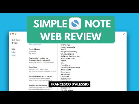 Simplenote: Note-taking Web/Mobile App | Review