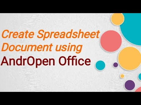 Format Text in Spreadsheet using AndrOpen Office Software in Android Phone.