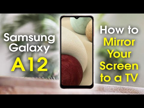 Samsung Galaxy A12 How to Mirror Your Screen to a TV | H2techvideos | Samsung Galaxy A12 Play on TV