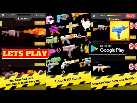Lets Play Gun Idle, Android Gameplay, Tips and game review