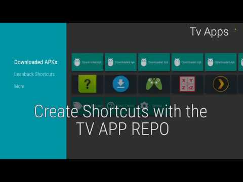 Generate Leanback Shortcuts with the TV App Repo