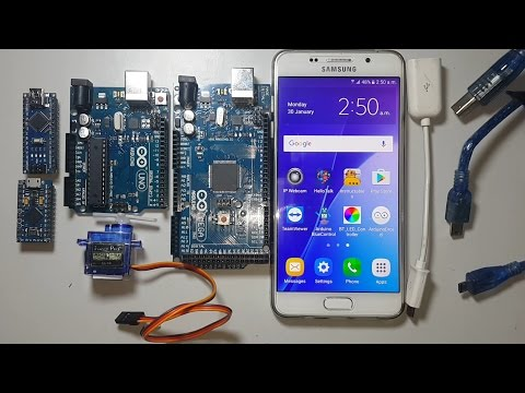 How to program Arduino with android smartphone using arduinidroid android apps