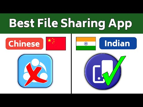 Best File Sharing App For Android | Shareit Similar Indian App | Secure File Transfer App