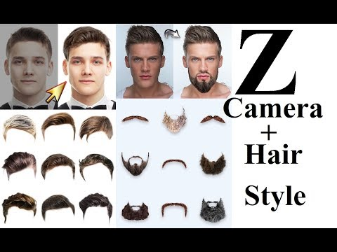 Z CAMERA APP How to change Hair style, colour  in  in Hindi