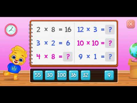 Learning Math : Multiplication Kids - Multiply Math Games!!!
