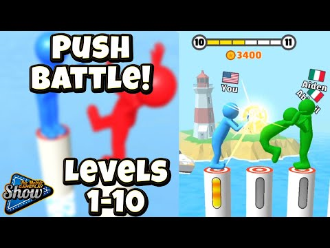 Push Battle! Game Gameplay ✋🤚 Walkthrough Tutorial Levels 1-10 (iOS and Android Mobile Game)