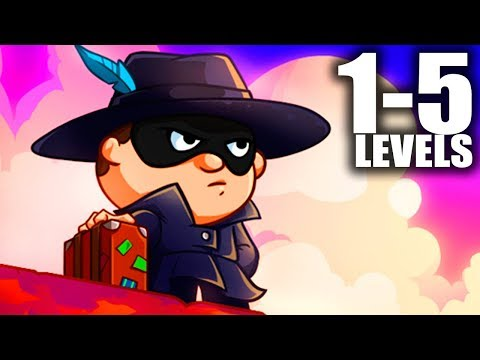 Bob The Robber 4 (1-5 Level Walkthrough) Android GamePlay FullHD