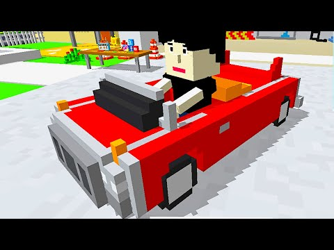 NOOB DRIVER Driving Cars Crossy Brakes : Blocky Toon Racer - Gameplay Android iOS
