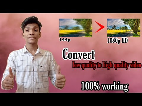 How to convert low quality video to 1080p HD ||Using  phone
