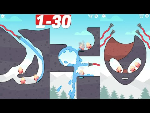 Drawing Water Game App Gameplay Walkthrough Level 1-30 iOS, Android