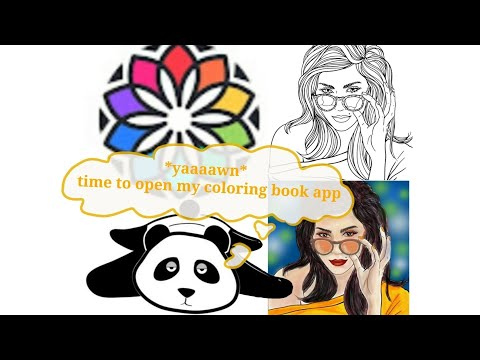 Let's color in android phone!  [Coloring book for me] [Adult coloring book in Android]