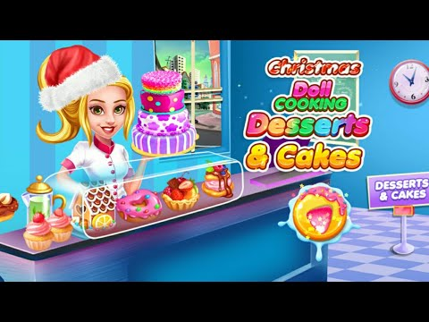 Christmas doll cake, dessert and bakery game video