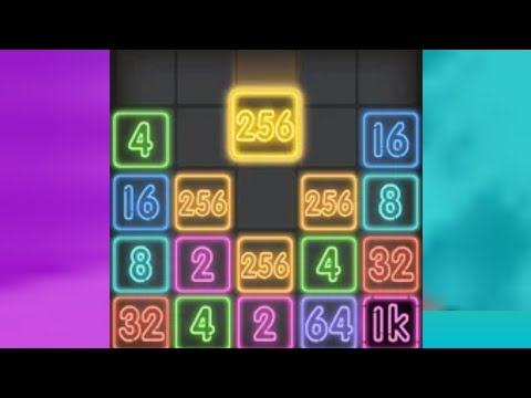 Drop Number: Neon 2048 game (Android and iOS Game play Video) Part 1 PLAY NOW guys 🔥🔥🔥🔥