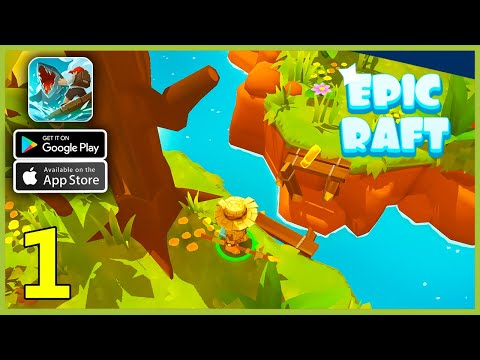 Epic Raft: Fighting Zombie Shark Gameplay Walkthrough (Android, iOS) - Part 1