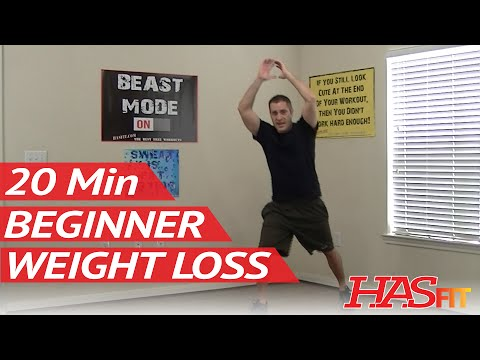 20 Min Beginner Workout for Weight Loss - HASfit Easy Exercises to Lose Weight Easy Workouts at Home