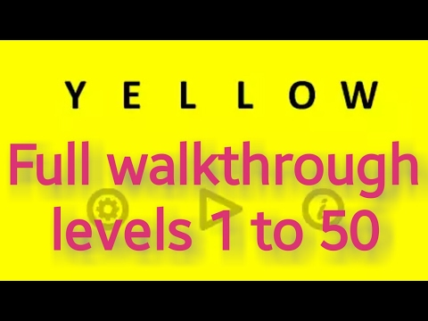 Yellow (game) levels 1- 50 by Bart Bonte solution walkthrough