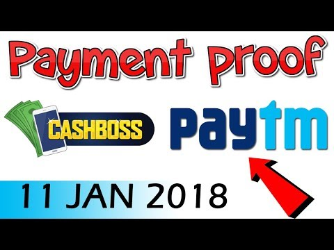 #CashBoss Android Application Payment Proof | Paytm Transfer 👍👍