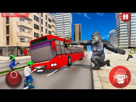 Angry Gorilla City Rampage Ultimate Gorilla Family Simulator Android Gameplay