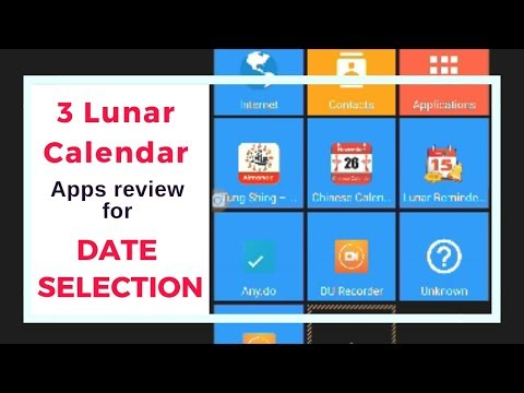 3 Lunar calendar apps review for date selection - android