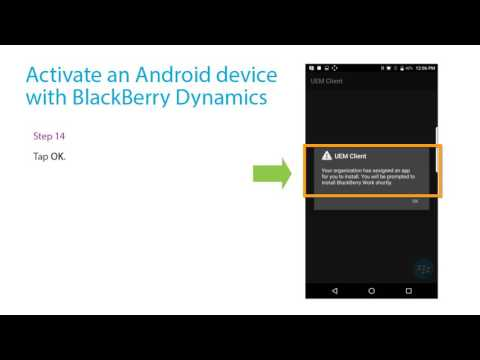 Activate An Android Device With BlackBerry Dynamics
