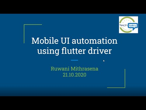 Mobile UI automation with flutter driver
