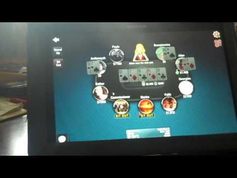 Playing Full Stack Poker on my mom's tablet