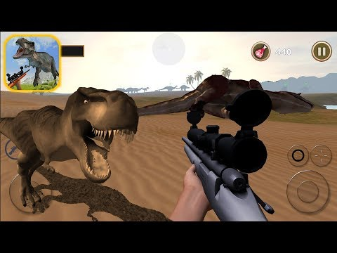 Wild Dinosaur Hunting 3D: How can hunt T-Rex with sniper rifle?? - Android Gameplay