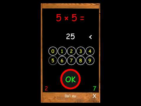 Math for kids - multiplication - free Android app
