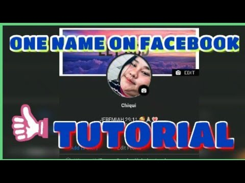 ONE NAME ON FACEBOOK TUTORIAL