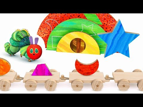Kids learn Shapes & Colors with the Hungry Caterpillar Shapes App
