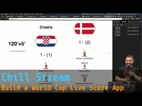 Chill Stream - Hangout/Catchup/Q&A - Build a World Cup Live Score App