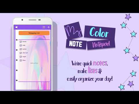 My Color Note Notepad OFFICIAL VIDEO