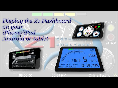 Displaying the Z1 Dashboard on Your Phone or Tablet