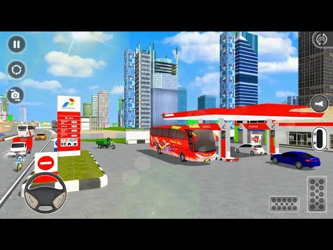 Public City Coach 3D Driving - Bus Simulator 2020 || Android GamePlay HD GAMINGMONSTERSANJOY GMS
