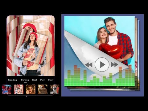 how to make a slideshow with music and pictures | photo video maker app